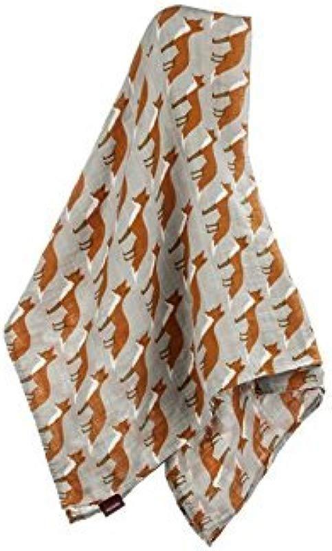 Zebi Baby Swaddle Blanket Orange Fox