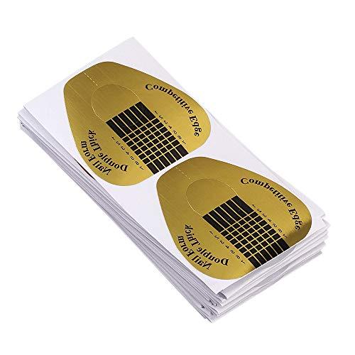 SENDILI Fingernägel Nagelsticker Set - Professional Nail Art Tips Extension Forms Guide Stickers 100 Stück Acrylic UV Gel für die künstliche Fingernagel-Modellage