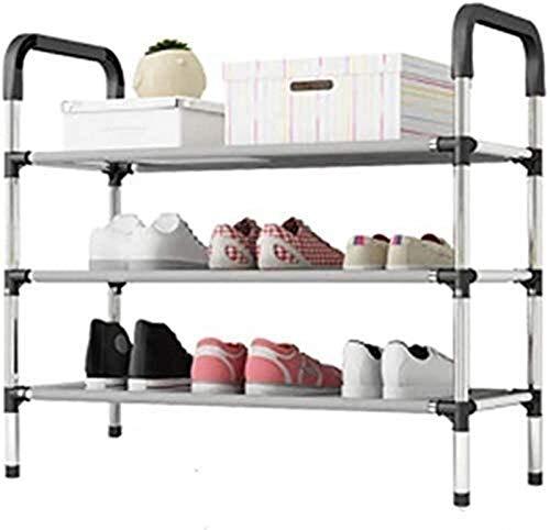 QZMX Estante de Zapatos Zapatero Familia Simple y Zapatos prácticos de Zapatos Zapatero Vertical en Rack Familia Sencilla Zapatos prácticos Caja de Almacenamiento Estante (Color : 3-Tier)