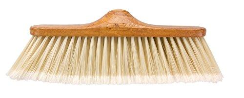 Elliott bezem, hout-look, voor binnen, met zachte borstelharen, bruin/beige