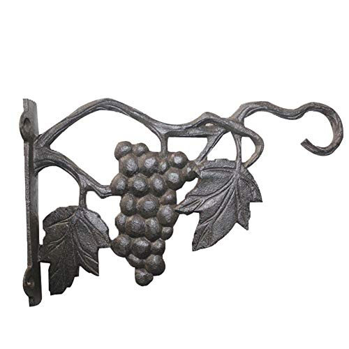 Belleashy Hanging Brackets Heavy Duty hängenden Korb Brackets Pflanze Haken 2er-Pack Metall Outdoor Garten Wandhaken for Laternen Schmiedeeisen Bracket (Color : As Shown, Size : 24.2x4.2x15.1cm)