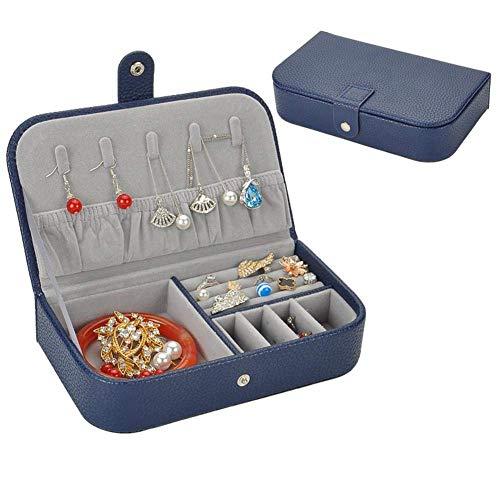 Patrón de Lichi de Cuero Pulsera Pulsera Pulsera Joyas de joyería Pendiente de Collar TINGG (Color : Navy Blau, Size : 19 * 11 * 4.4cm)