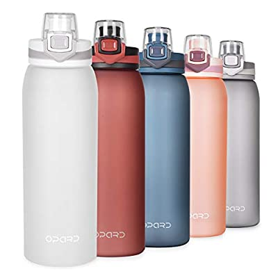 Opard 30oz Sports Water Bottle with Leak Proof Flip Top Lid BPA Free Tritan Reusable Plastic for Gym and Outdoor