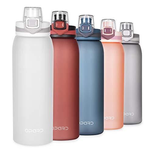 Opard Trinkflasche Sport 900ml -Wasserflasche aus Tritan BPA-Frei, Auslaufsicher Sportflasche für Kinder, Sport, Fitness, Fahrrad, Fußball, Outdoor