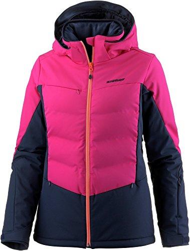 Ziener W Taranis Colorblock-Blau-Pink, Damen Daunen Regenjacke, Größe 42 - Farbe Pink Blossom