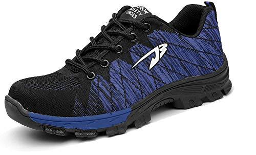 Aizeroth-UK Unisex Hombre Industria Construcción Zapatillas de Seguridad con...
