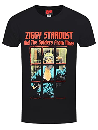 David Bowie 'The Spiders from Mars' (Black) T-Shirt (3X-Large)