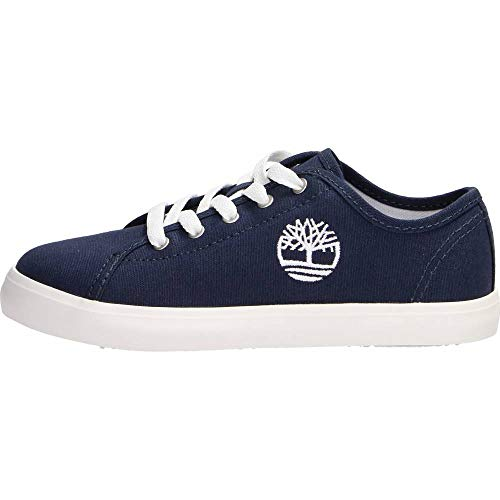 Timberland Newport bay Oxford (Youth), Sneakers Basse, Blu Navy Canvas, 34 EU
