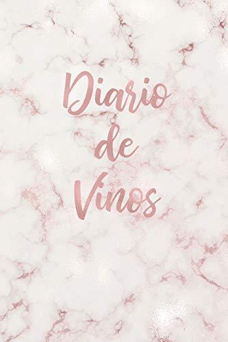 Diario de Vinos: Cuaderno para Registrar Cata de Vinos, Ordenar y Registrar tus Vinos Favoritos, 6 x 9 in (15.5 x 22 cm) 100 pag Marmol Rosado