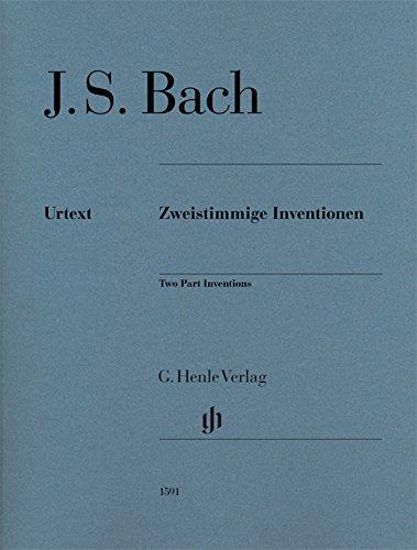Zweistimmige Inventionen BWV 772-786, Ausgabe ohne Fingersatz