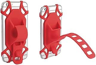 Red Bike Cell Phone Holder Handlebar Mount Bicycle Motorcycle Golf Cart ATV for Google Pixel 4 XL, OnePlus 7T, OnePlus 6T, LG Stylo 5 Stylo 4 G8 G7 V50 V40 ThinQ K40, Moto Z4 Z3 Z2 G7 G6 G5 E6 E5 X4