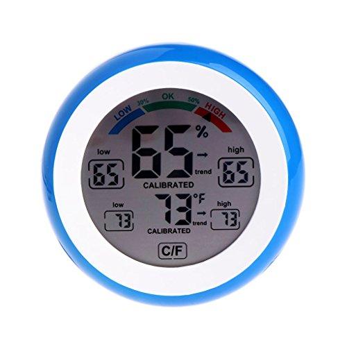 Lcd-display binnenthermometer hygrometer ronde luchtvochtigheidsmeter weerstation