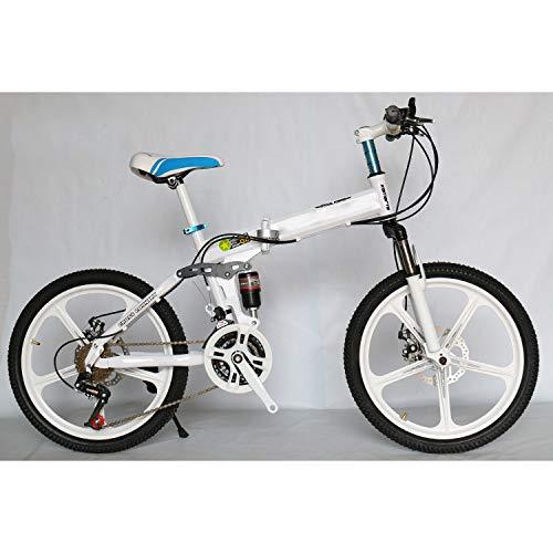 "CEALEONE Bike-to-Go Folding Fahrrad - 20\"" Rad, hinten Hydraulic Shock Aufhängung, Faltbare Pedale, Aluminium-Legierung Fahrrad-Rahmen,Weiß,27speed"