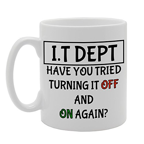 MG1101 IT Department 'Have You Tried Turning It Off and On' Taza de cerámica impresa para regalo