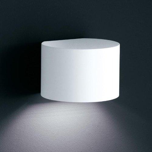 Siri 44-R LED Außenwandleuchte, weiß matt BxHxT 15x10x12,5cm 3000K 520lm