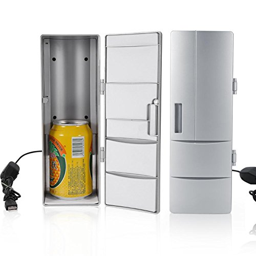 2 en 1 Mini USB Nevera Refrigerador Calentador de Bebidas Portátil de Oficina Viajes Coche 8.5 x 12 x 25cm