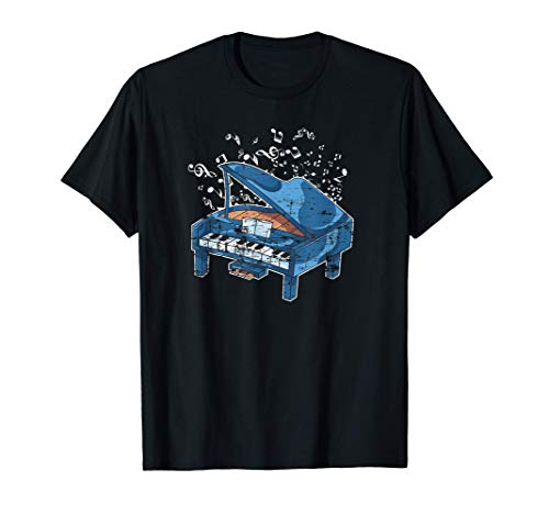 Notas Musicales Regalo Para El Pianista Música Clásica Piano Camiseta