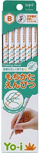 トンボ鉛筆 鉛筆 Yo-i もちかた B 六角軸 右手左手兼用 KE-KY02-B 1ダース 【× 2 個 】