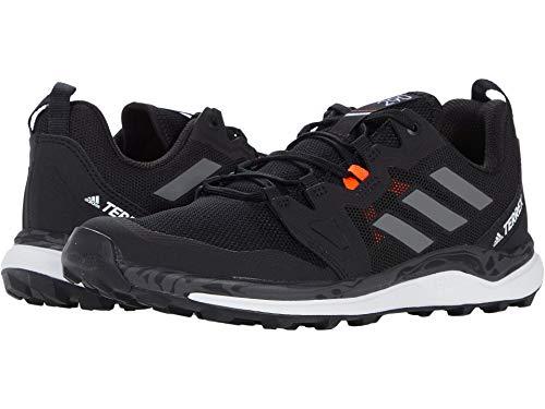 adidas Originals Women's Terrex Agravic Trail Running Shoe, Black/Grey/Solar Red, 9.5