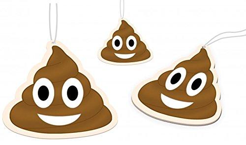 Lufterfrischer Emoji Kackhaufen im 3er Set Duftbaum, frischer Duft im Auto, Gag