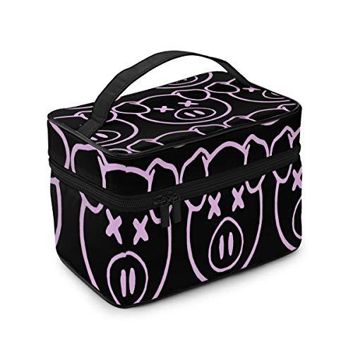 Sh-ane Daw-soN Pig Makeup Bag Portable Travel Cosmetic Bag For Women Girls Makeup Bag Organizer Makeup Boxes
