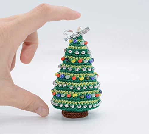 Albero Di Natale Decorato, Ornamento In Miniatura, Decorazioni Per La Tavola Di Capodanno, Regalo Di Festa All'Uncinetto