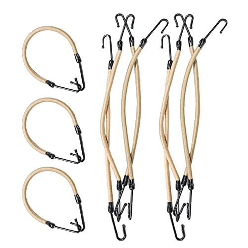 Frcolor 20 stücke Pferdeschwanz Haken Elastische Bänder Hair Styling Stirnband Hair Claw Haarspangen Hair braid (Apricot)