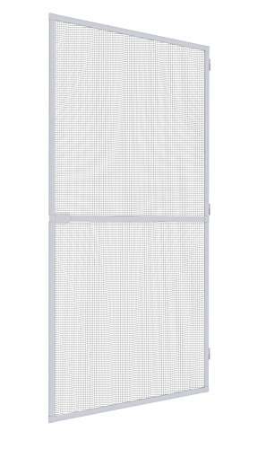 Mosquito Stop Insektenschutztür, Insektenschutz Rahmentür, Fliegengittertür, Spannrahmen-Tür, individuell kürzbar, weiß, 100 x 210 cm, 23588