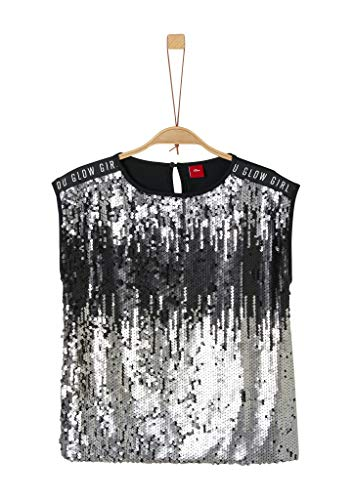 s.Oliver Mädchen 66.911.32.5815 T-Shirt, Schwarz (Black 9999), 152 (Herstellergröße:M/REG)
