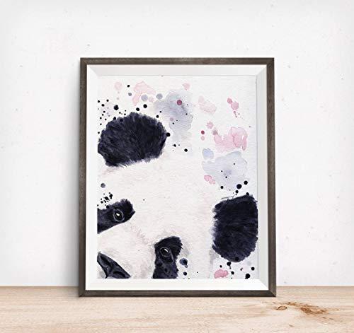 ARjzap DIY Pintar por números Panda Pintura acrílica de Bricolaje en Lienzo para Adultos y niños con Pinceles