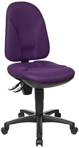 Topstar Point 35, Bürostuhl, Schreibtischstuhl, Rückenlehne höhenverstellbar, Bezugsstoff lila