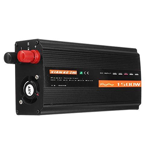 Inversor de energía, 12V / 24V / 48V de Onda sinusoidal Pura Potencia inversor de la Pantalla 1500W Inversor Inteligente (Voltage: : 24V)