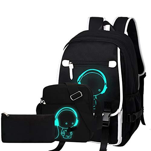 Oxford-gewebe Schulrucksack für Jungen Schulrucksack Druck Rucksack Jugendlichen Schultasche Outdoor Reflektierender Daypack