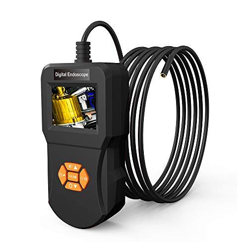 Winbang Inspektionskamera, Industrielles Endoskop Digitales Endoskop mit 5,5 mm Wasserdichter Mikroschlangenkamera 6 Justierbarem LED-Licht-Endoskop (3m)