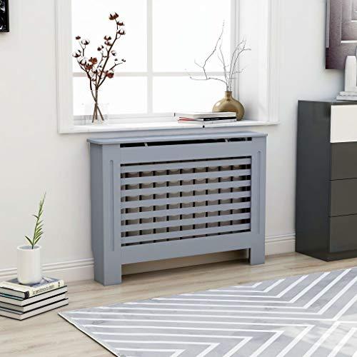 UnfadeMemory Cubierta de Radiador,Mueble para Radiador,Cubierta de Calefacción,MDF (Gris Antracita,Diseño Horizontal, 112x19x81cm)