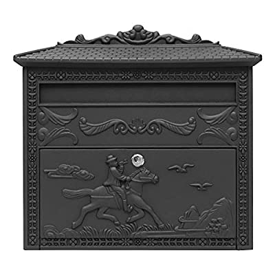 Fine Art Lighting ME06 Wall Mounted Mailbox, Black Sand Grain