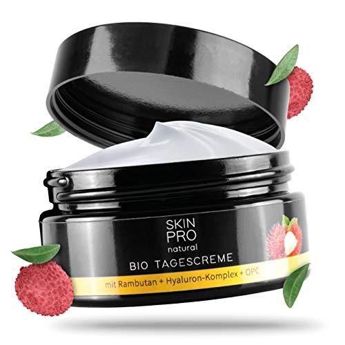SKIN PRO natural® Bio Tagescreme mit Hyaluron-Säure und Aloe Vera, hochwertige Anti Aging...