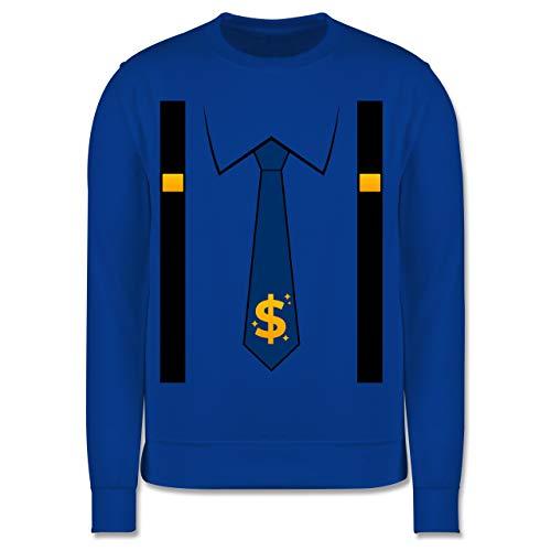 Shirtracer Karneval & Fasching Kinder - Anzug Kostüm mit Dollarzeichen Krawatte - 116 (5/6 Jahre) - Royalblau - Krawatte - JH030K - Kinder Pullover
