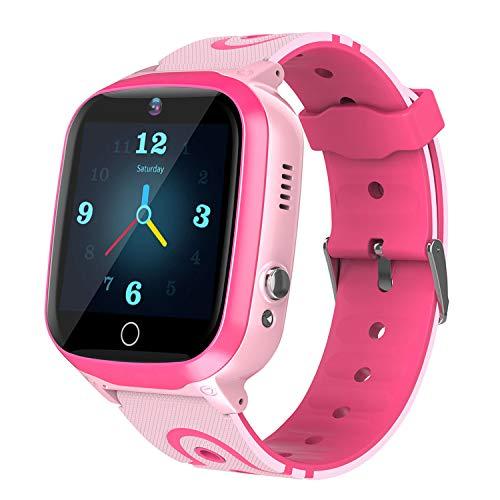 Reloj Inteligente para Niños - LBS Location Smartwatch Teléfono con Pantalla táctil HD Alarma Cámara SOS Reloj Deportivo Despertador Juego Regalo de Cumpleaños para Niños Estudiantes Adolescentes