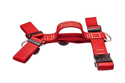 bub's no Pull - arnés con asa para Perro Grande Sistema Anti tirón (Comprobar tamaño: Cuello 43-74cm Pecho 59-94cm) (Rojo)