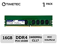 TT-Timetec Hynix IC 16GB サーバー用メモリ DDR4 2400MHz PC4-19200 Unbuffered ECC 1.2V CL17 288 Pin UDIMM Server メモリ 永久保証(16GB)
