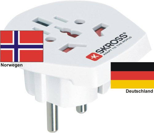 Reisadapter - buitenlandse adapter naar Duitsland Schuko-stekker - Power Adapter voor stekkers uit Noorwegen 220-230V Conversiestekker reisstekker German Travel Adapter Norway