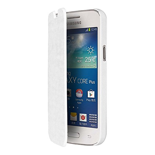 blueway - Custodia per Samsung Galaxy Core Plus, Bianco