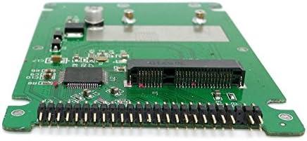 Cablecc mSATA Mini PCI E SATA SSD to 2 5 inch IDE 44pin Notebook Laptop Hard Disk case Enclosure product image