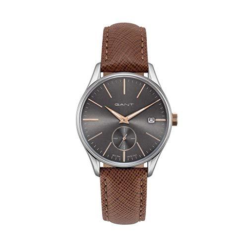 GANT Elegante Reloj para Hombre de Cristal Mineral Plata