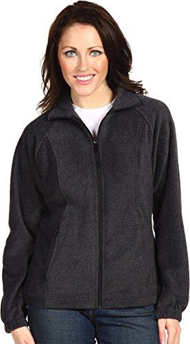 Columbia Women's Benton Springs Classic Fit Full Zip Soft Fleece Jacket, charcoal heather, XL