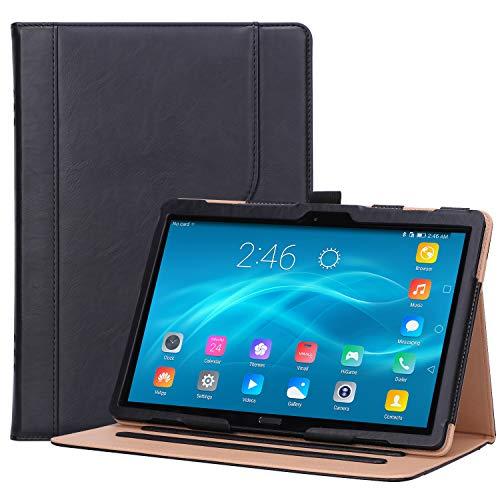 "ProCase Lenovo Tab P10 / M10 / M10 HD 10.1 Case, Leather Protective Stand Folio Case Cover for Lenovo Tab P10 TB-X705F TB-X705L / M10 HD TB-X505F TB-X505L / M10 TB-X605F TB-X605L 10.1"" Tablet –Black"
