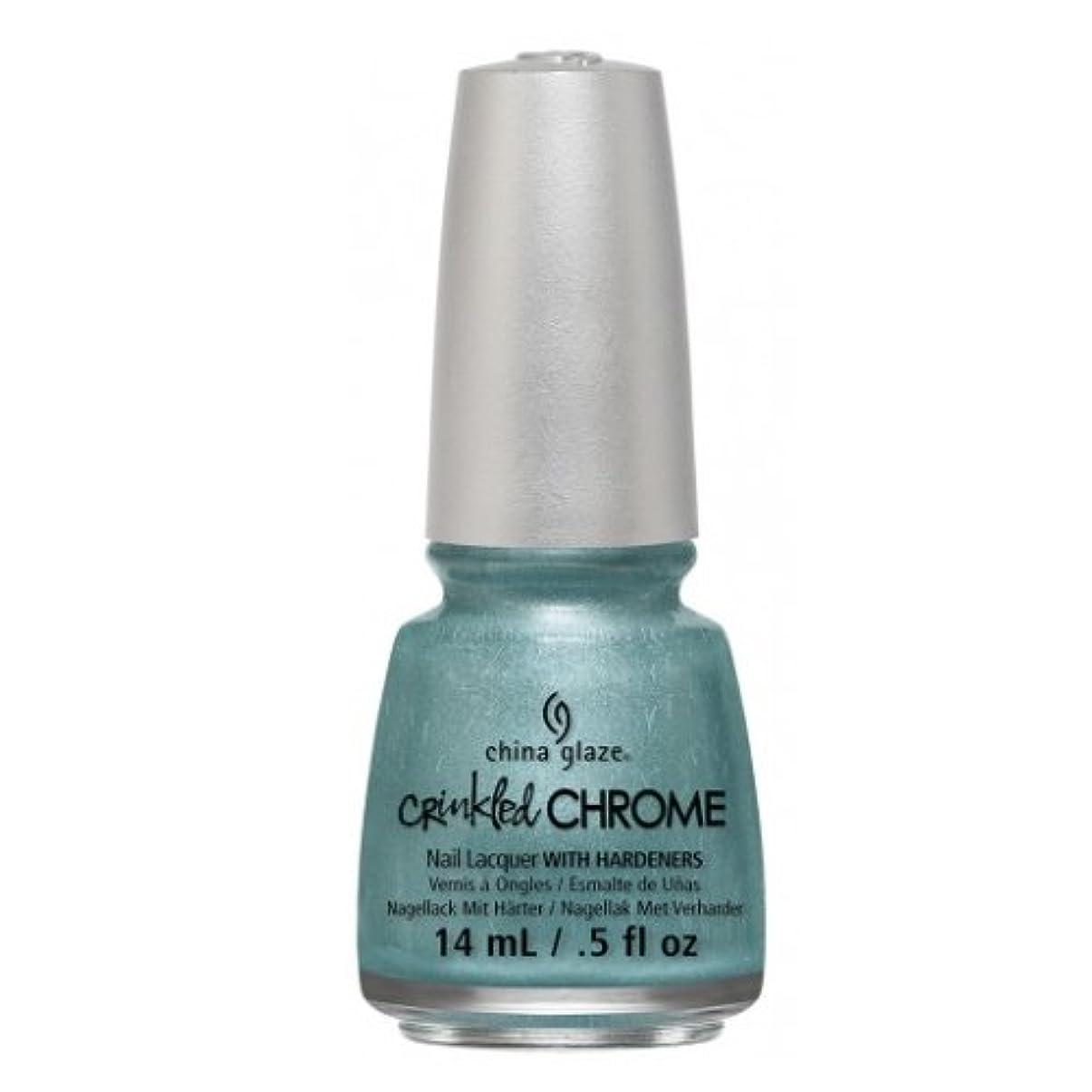 気を散らす休戦ズーム(3 Pack) CHINA GLAZE Nail Lacquer - Crinkled Chrome - Don't Be Foiled (並行輸入品)
