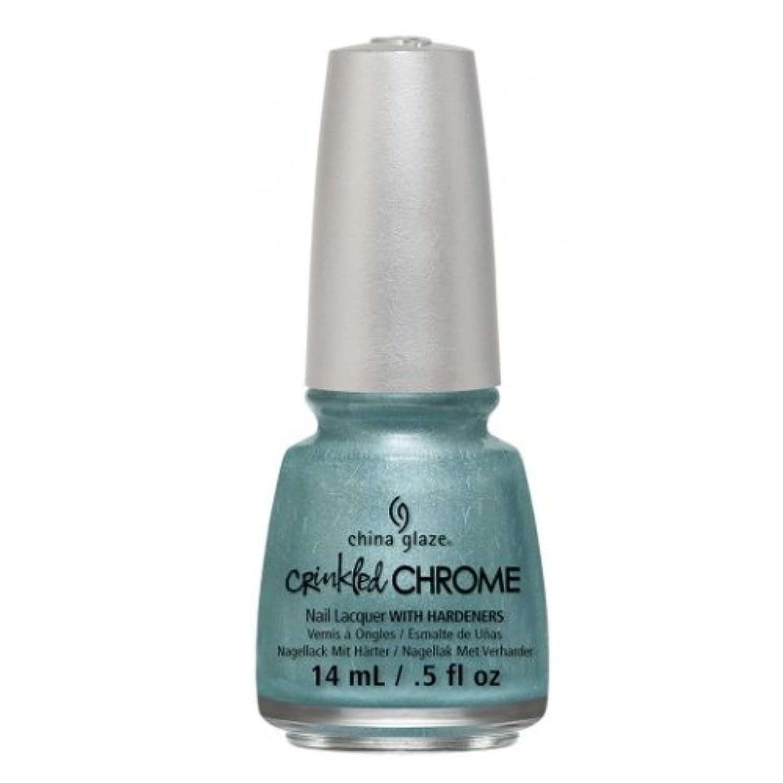 系譜年金受給者一瞬(3 Pack) CHINA GLAZE Nail Lacquer - Crinkled Chrome - Don't Be Foiled (並行輸入品)