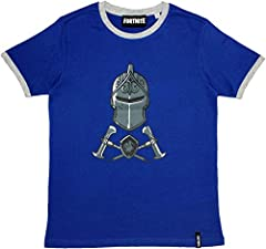 Epic Gamess Camiseta Fortnite Casco y Armas Azule - Camiseta Fortnite Manga Corta